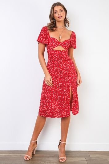 Makenzie Dress - Red Print