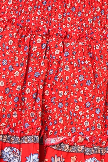 Leticia Skirt - Red Print