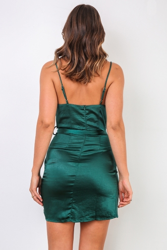 Stevierose Dress - Forest Green