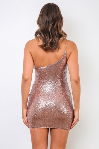 Erika Dress - Rose Gold Sequin
