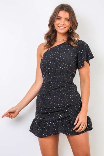 Shayla Dress - Black Spot