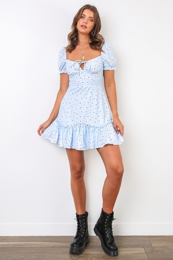 Sally-Anne Dress - Blue Print