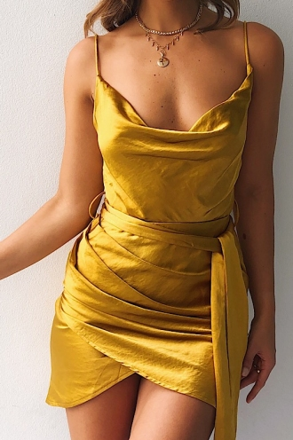 Stevierose Dress - Mustard