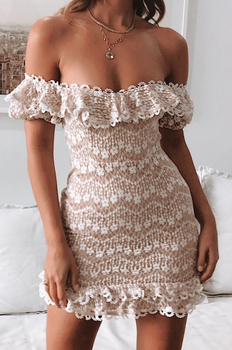 Genevieve Dress - White Lace
