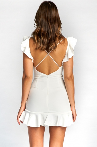 Haylee Mini Dress- White
