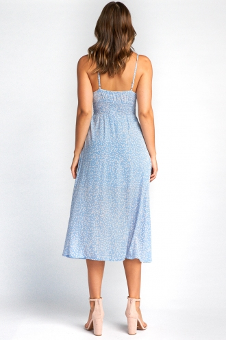Clarity Dress - Light Blue Print