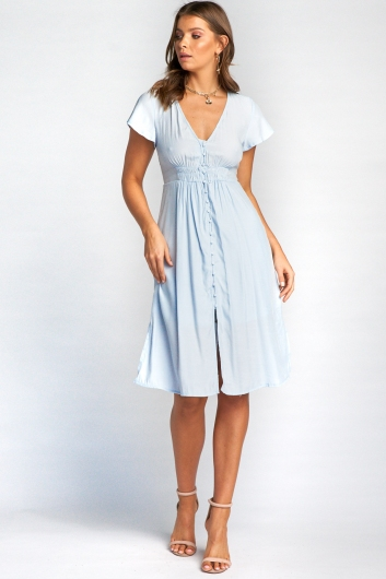 Reeva Dress - Light Blue