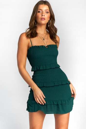 Skye Dress - Forest Green