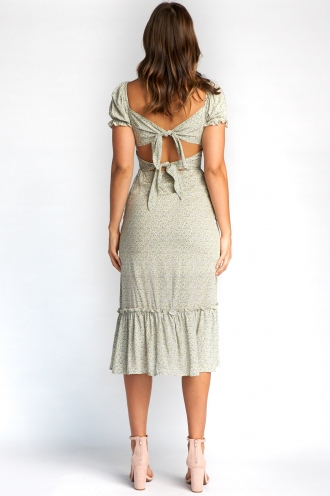 Tracy Dress - Nude Print