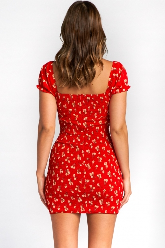 Nadine Dress - Red Print