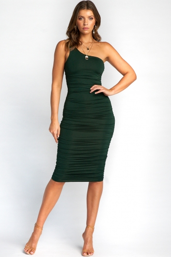 Lisa Dress - Forest Green