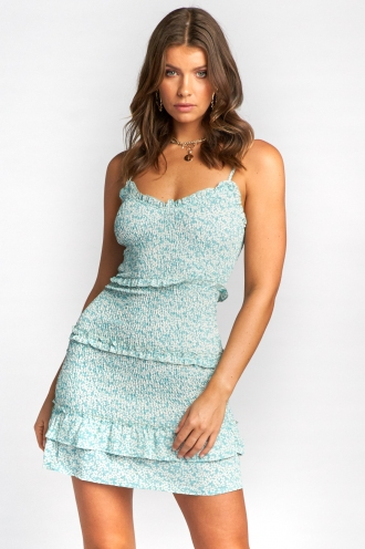 Chesney Dress - Mint Print