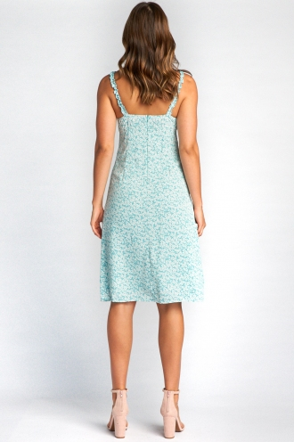 Bethany Dress - Light Blue Print