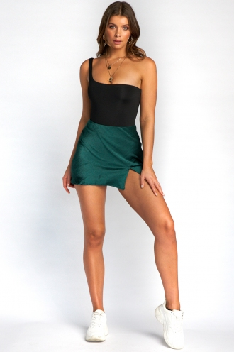 Britney Skirt - Green Silky