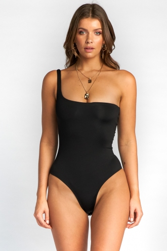 Heather Bodysuit - Black