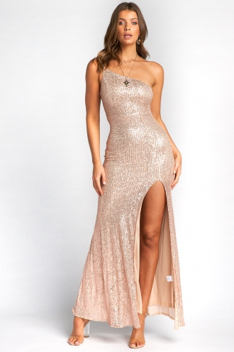 Imogen Dress - Gold Sequin