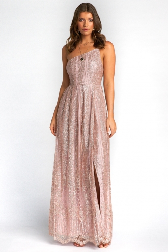 Tresna Dress - Rose Gold Glitter