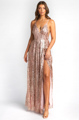 Charming Dress - Beige Sequin