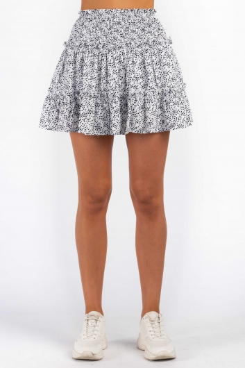 Talisha Skirt - White Print