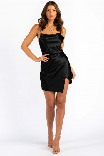 Want Your Number Dress - Black