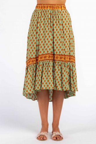 Asta Skirt - Green/Orange