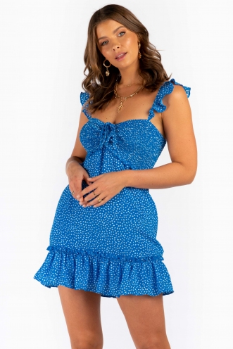 Maggie Dress - Blue Print