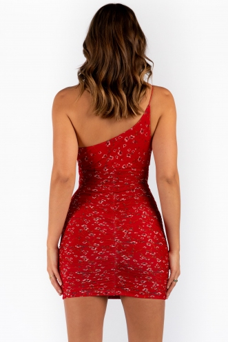 Holly Dress - Red Print