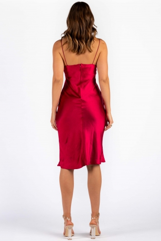 Ashlie Dress - Maroon