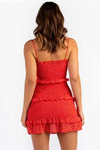Skye Dress - Red Print