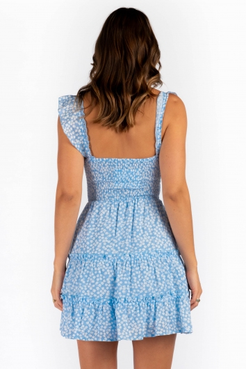 Arna Dress - Light Blue Print