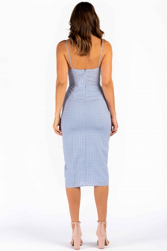 Michelle Dress - Mix Blue