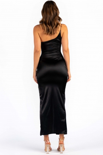 Tina Dress - Black Silky
