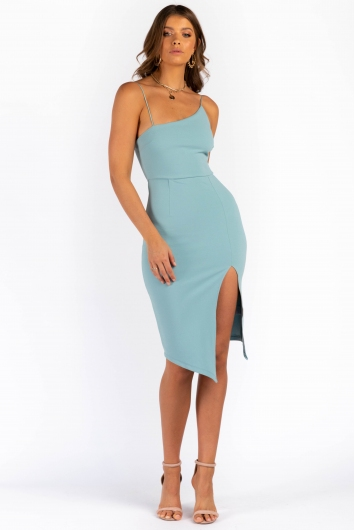 For Now Dress - Sage