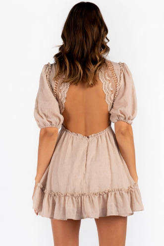 Charity Dress - Beige