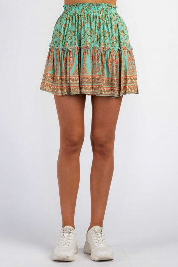 Trouble Skirt - Mix Turquoise