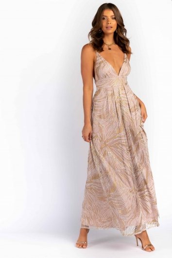 Faya Dress - Beige/Glitter