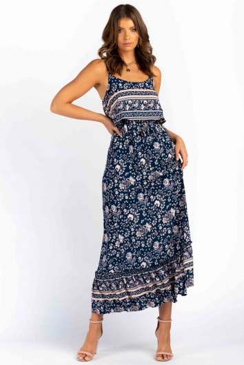 Courtnie Dress - Mix Navy