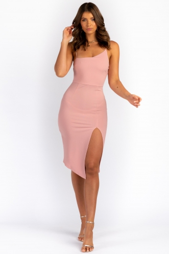 For Now Dress - Blush