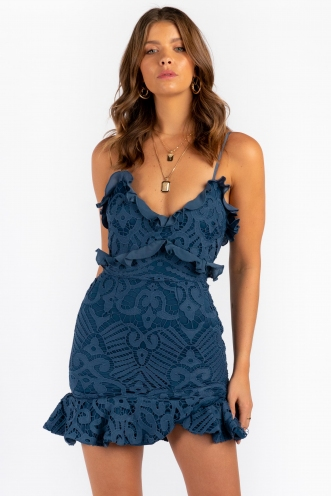 Analeese Mini Dress - Midnight Blue