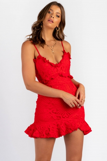 Analeese Mini Dress - Red