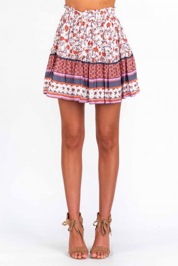 Trouble Skirt - Pink Print