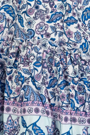 The Bali Dress- Blue Print