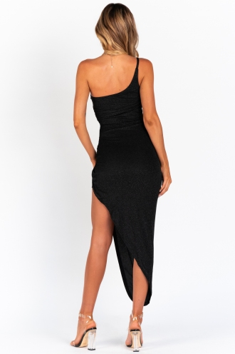 Dark Of Night Dress - Black Sparkle
