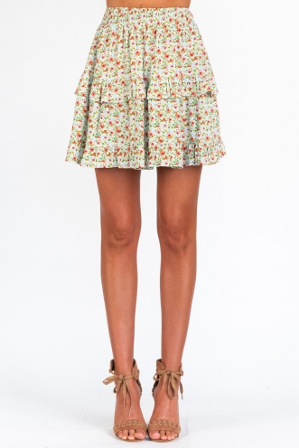 It Might Be Time Skirt - Blue/Pink Floral