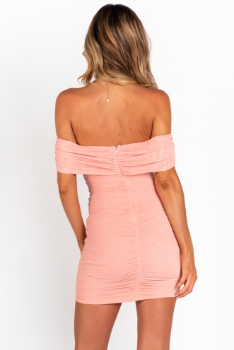 Mood Rising Dress - Peach