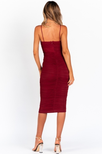 Sunset Love Dress - Maroon