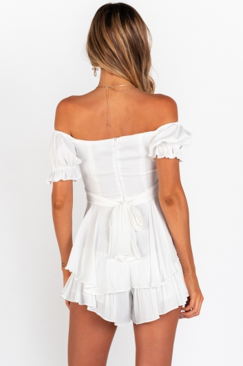 Chloe Playsuit - White
