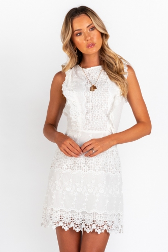 Spanish Sahara Dress - White