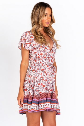 Sugarcoated Dress - Purple/Red Print