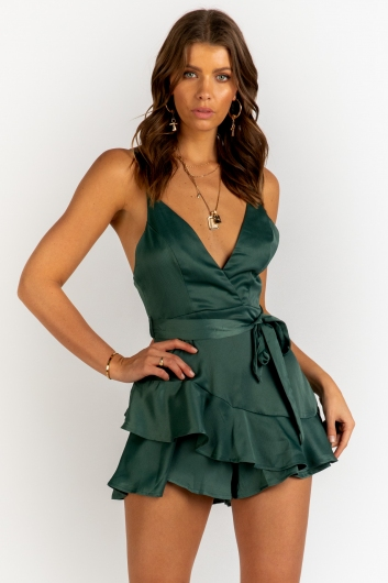 Wrapped In Love Playsuit - Green
